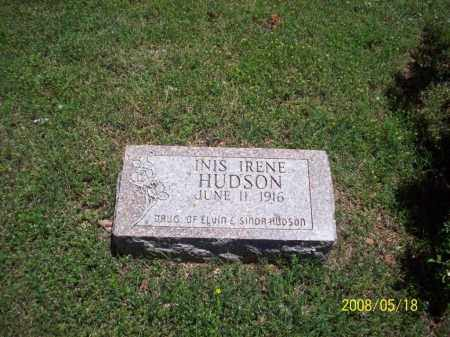 HUDSON, INIS IRENE - Newton County, Arkansas | INIS IRENE HUDSON - Arkansas Gravestone Photos