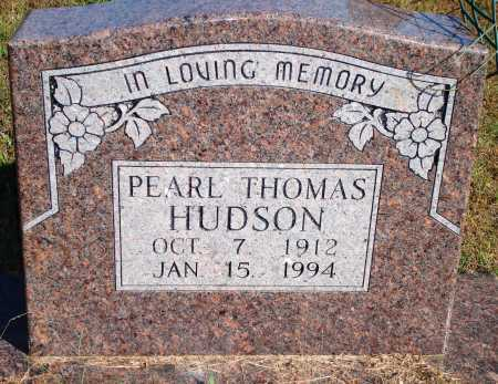 THOMAS HUDSON, PEARL - Newton County, Arkansas | PEARL THOMAS HUDSON - Arkansas Gravestone Photos