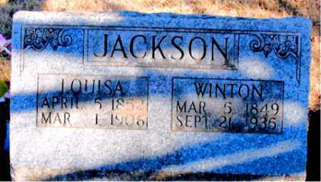 JACKSON, WINTON - Newton County, Arkansas | WINTON JACKSON - Arkansas Gravestone Photos