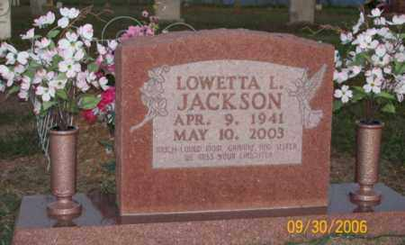 JACKSON, LOWETTA L. - Newton County, Arkansas | LOWETTA L. JACKSON - Arkansas Gravestone Photos