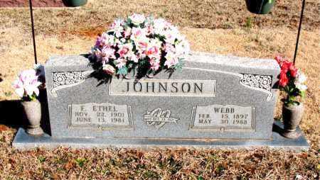 JOHNSON, F. ETHEL - Newton County, Arkansas | F. ETHEL JOHNSON - Arkansas Gravestone Photos