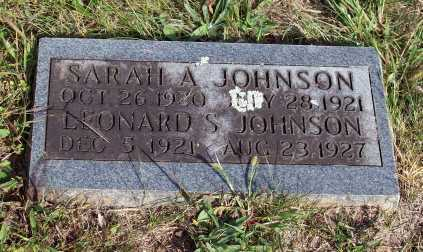 JOHNSON, SARAH A. - Newton County, Arkansas | SARAH A. JOHNSON - Arkansas Gravestone Photos