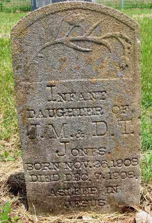 JONES, INFANT DAUGHTER - Newton County, Arkansas | INFANT DAUGHTER JONES - Arkansas Gravestone Photos