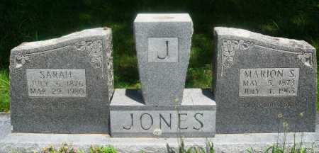 JONES, MARION S - Newton County, Arkansas | MARION S JONES - Arkansas Gravestone Photos