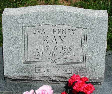 HENRY KAY, EVA - Newton County, Arkansas | EVA HENRY KAY - Arkansas Gravestone Photos