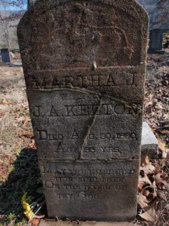 KEETON, MARTHA J. - Newton County, Arkansas | MARTHA J. KEETON - Arkansas Gravestone Photos