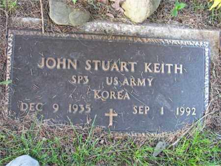 KEITH (VETERAN KOR), JOHN STUART - Newton County, Arkansas | JOHN STUART KEITH (VETERAN KOR) - Arkansas Gravestone Photos