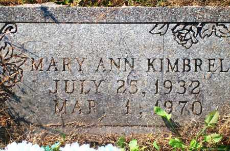 KIMBREL, MARY ANN - Newton County, Arkansas | MARY ANN KIMBREL - Arkansas Gravestone Photos
