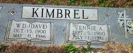 KIMBREL, VENNIE A. - Newton County, Arkansas | VENNIE A. KIMBREL - Arkansas Gravestone Photos