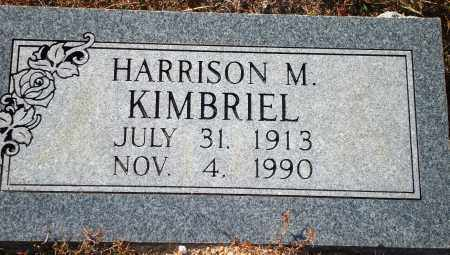 KIMBRIEL, HARRISON M. - Newton County, Arkansas | HARRISON M. KIMBRIEL - Arkansas Gravestone Photos