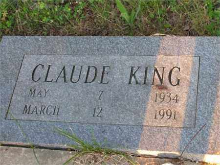 KING, CLAUDE - Newton County, Arkansas | CLAUDE KING - Arkansas Gravestone Photos