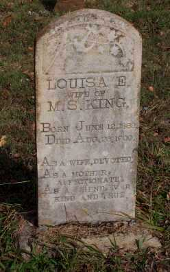 KING, LOUISA E. - Newton County, Arkansas | LOUISA E. KING - Arkansas Gravestone Photos