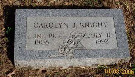 KNIGHT, CAROLYN J. - Newton County, Arkansas | CAROLYN J. KNIGHT - Arkansas Gravestone Photos