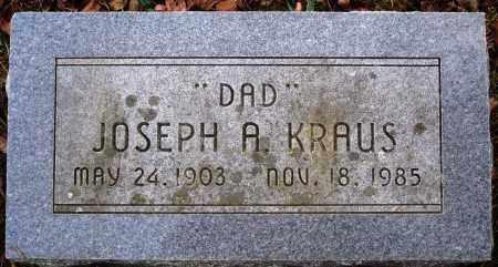 KRAUS, JOSEPH A. - Newton County, Arkansas | JOSEPH A. KRAUS - Arkansas Gravestone Photos