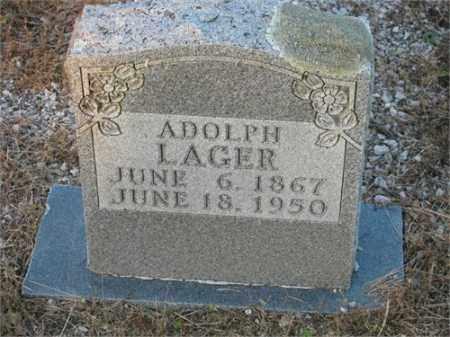 LAGER, ADOLPH - Newton County, Arkansas | ADOLPH LAGER - Arkansas Gravestone Photos