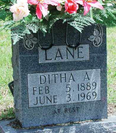 LANE, DITHA A - Newton County, Arkansas | DITHA A LANE - Arkansas Gravestone Photos