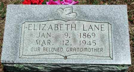 "LANE, ELIZABETH ""LIZZIE"" - Newton County, Arkansas 