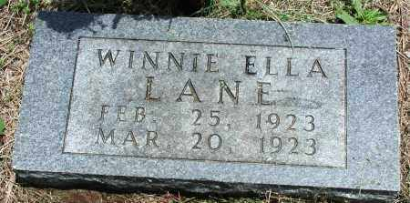 LANE, WINNIE ELLA - Newton County, Arkansas | WINNIE ELLA LANE - Arkansas Gravestone Photos
