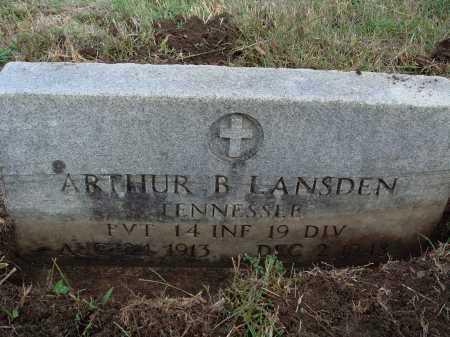 LANSDEN  (VETERAN), ARTHUR B - Newton County, Arkansas | ARTHUR B LANSDEN  (VETERAN) - Arkansas Gravestone Photos