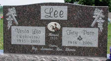ROBINSON LEE, VESTA LEA - Newton County, Arkansas | VESTA LEA ROBINSON LEE - Arkansas Gravestone Photos