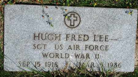 LEE (VETERAN WWII), HUGH FRED - Newton County, Arkansas | HUGH FRED LEE (VETERAN WWII) - Arkansas Gravestone Photos