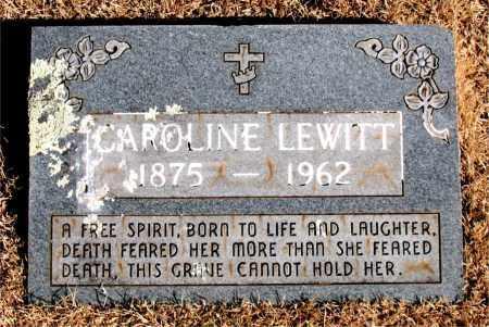 LEWITT, CAROLINE - Newton County, Arkansas | CAROLINE LEWITT - Arkansas Gravestone Photos