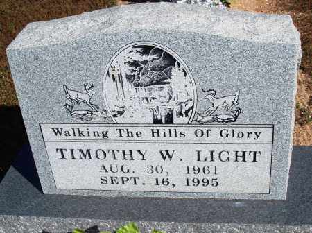 LIGHT, TIMOTHY W. - Newton County, Arkansas | TIMOTHY W. LIGHT - Arkansas Gravestone Photos