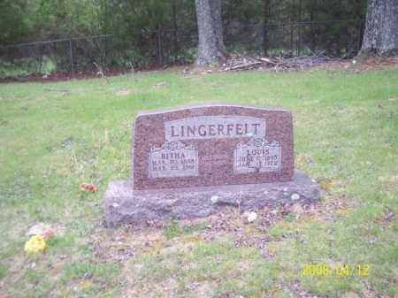 LINGERFELT, LOUIS - Newton County, Arkansas | LOUIS LINGERFELT - Arkansas Gravestone Photos