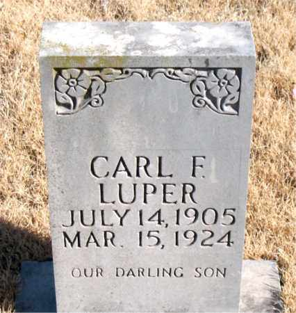 LUPER, CARL F. - Newton County, Arkansas | CARL F. LUPER - Arkansas Gravestone Photos