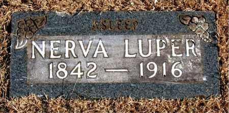 LUPER, NERVA - Newton County, Arkansas | NERVA LUPER - Arkansas Gravestone Photos