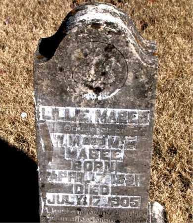 MABEE, LILLIE MARIE - Newton County, Arkansas | LILLIE MARIE MABEE - Arkansas Gravestone Photos
