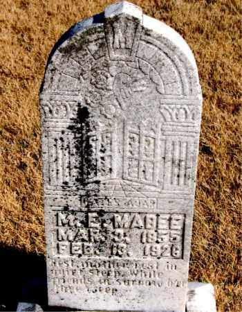 MABEE, M. E. - Newton County, Arkansas | M. E. MABEE - Arkansas Gravestone Photos