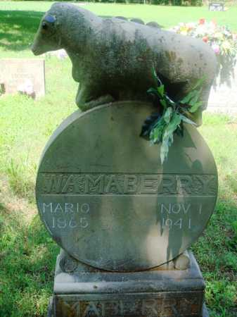 "MABERRY, WILLIAM A ""BILL"" - Newton County, Arkansas 