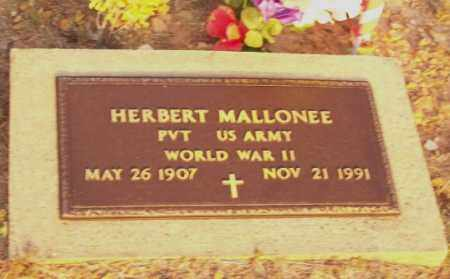 MALLONEE  (VETERAN WWII), HERBERT - Newton County, Arkansas | HERBERT MALLONEE  (VETERAN WWII) - Arkansas Gravestone Photos