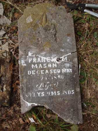 MASON, FRANCIS M. - Newton County, Arkansas | FRANCIS M. MASON - Arkansas Gravestone Photos