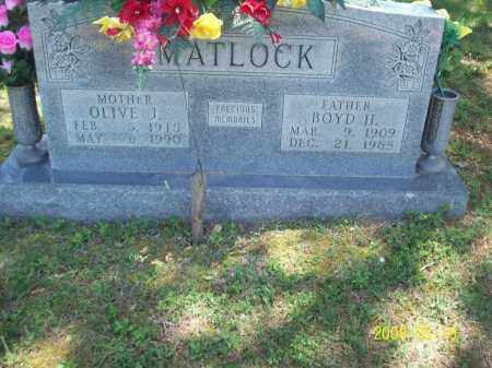 MATLOCK, OLIVE J - Newton County, Arkansas | OLIVE J MATLOCK - Arkansas Gravestone Photos