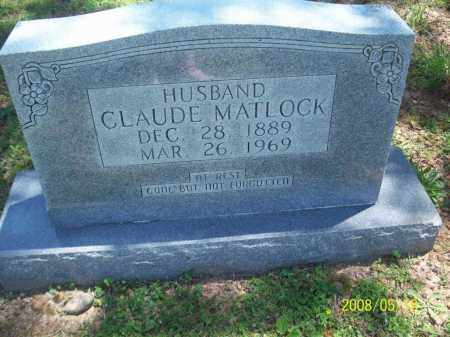 MATLOCK, CLAUDE - Newton County, Arkansas | CLAUDE MATLOCK - Arkansas Gravestone Photos