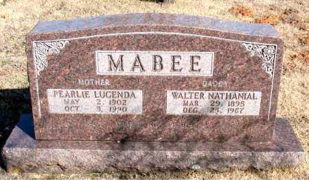 MAYBEE, WALTER NATHANIAL - Newton County, Arkansas | WALTER NATHANIAL MAYBEE - Arkansas Gravestone Photos