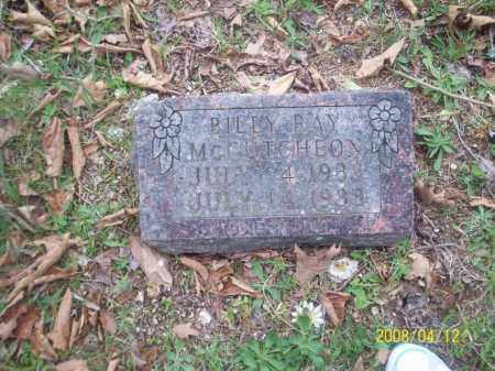 MCCUTCHEON, BILLY RAY - Newton County, Arkansas | BILLY RAY MCCUTCHEON - Arkansas Gravestone Photos