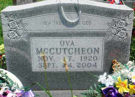 MCCUTCHEON, OVA - Newton County, Arkansas | OVA MCCUTCHEON - Arkansas Gravestone Photos