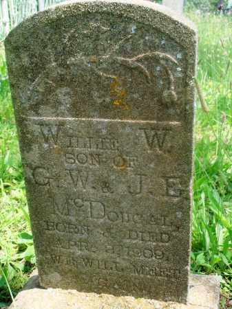 MCDOUGAL, WILLIE W - Newton County, Arkansas | WILLIE W MCDOUGAL - Arkansas Gravestone Photos