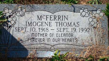 THOMAS MCFERRIN, IMOGENE - Newton County, Arkansas | IMOGENE THOMAS MCFERRIN - Arkansas Gravestone Photos