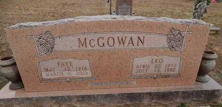 MCGOWAN, LEO - Newton County, Arkansas | LEO MCGOWAN - Arkansas Gravestone Photos