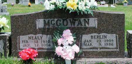 MCGOWAN, BERLIN - Newton County, Arkansas | BERLIN MCGOWAN - Arkansas Gravestone Photos