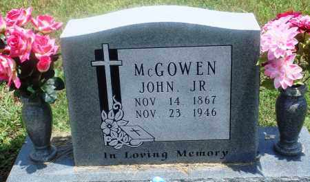 MCGOWEN, JR, JOHN - Newton County, Arkansas | JOHN MCGOWEN, JR - Arkansas Gravestone Photos