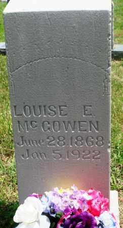 MCGOWEN, LOUISE E - Newton County, Arkansas | LOUISE E MCGOWEN - Arkansas Gravestone Photos