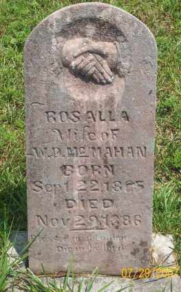 MCMAHAN, ROSALLA - Newton County, Arkansas | ROSALLA MCMAHAN - Arkansas Gravestone Photos