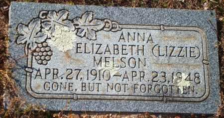 MELSON, ANNA ELIZABETH (LIZZIE) - Newton County, Arkansas | ANNA ELIZABETH (LIZZIE) MELSON - Arkansas Gravestone Photos
