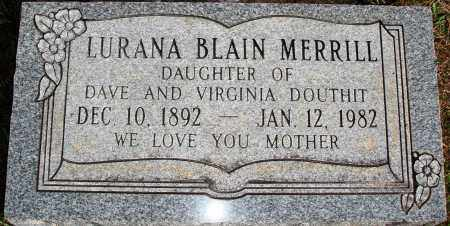 MERRILL, LURANA - Newton County, Arkansas | LURANA MERRILL - Arkansas Gravestone Photos
