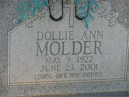 ANN MOLDER, DOLLIE - Newton County, Arkansas | DOLLIE ANN MOLDER - Arkansas Gravestone Photos